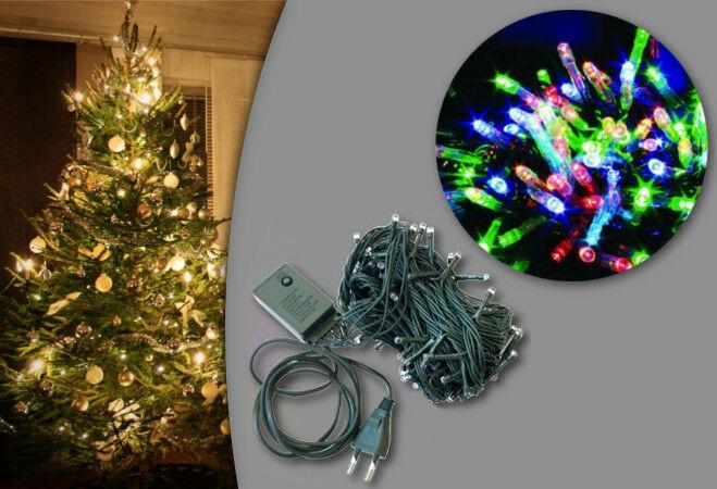 100 LED-es karácsonyi izzósor (színes)