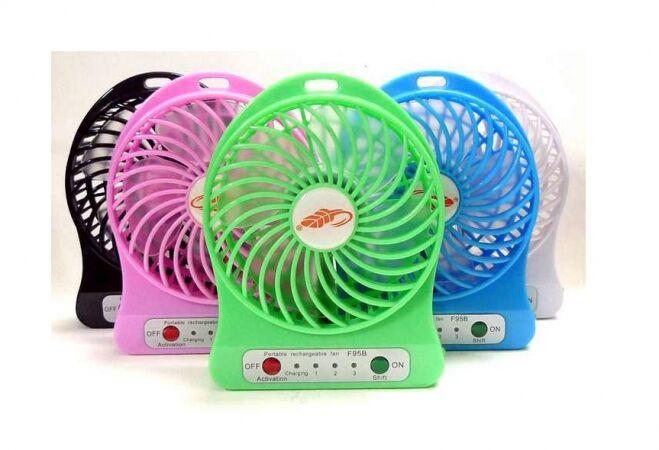 Akkumulátoros hordozható mini ventilátor (ZÖLD)