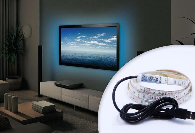 USB-s LED szalag TV mögé