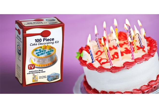 100 részes torta dekor szett