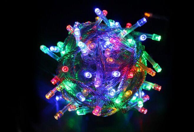 105 LED-es karácsonyi izzósor (színes)