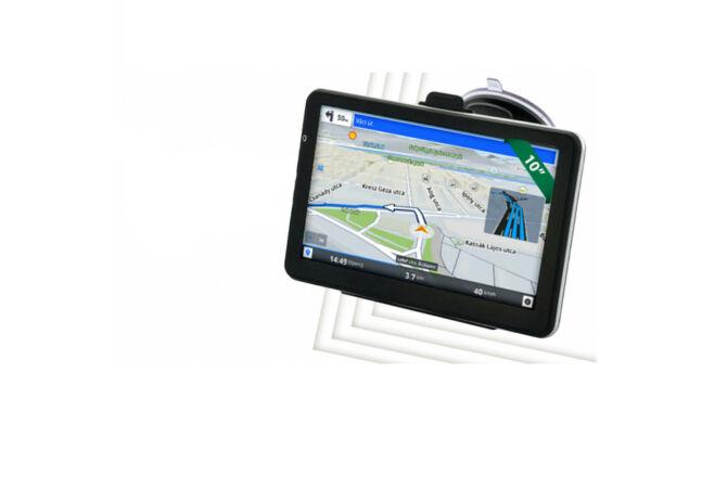 10'' GPS IPS kijelzővel, teljes Magyarország - és világtérképpel