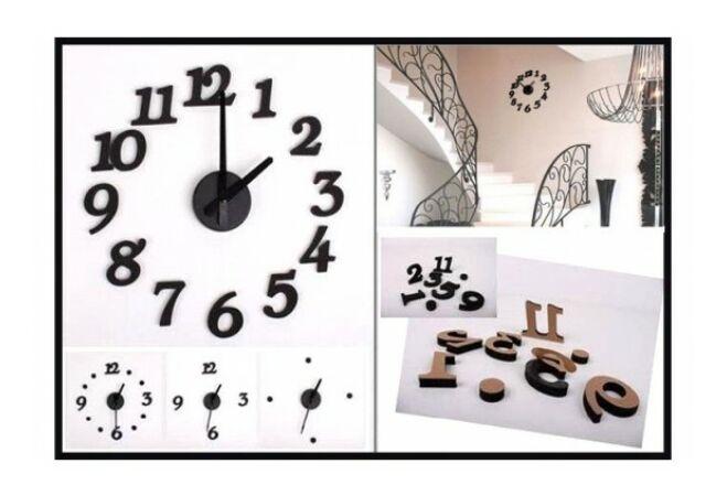 Falra ragasztható dizájn falióra