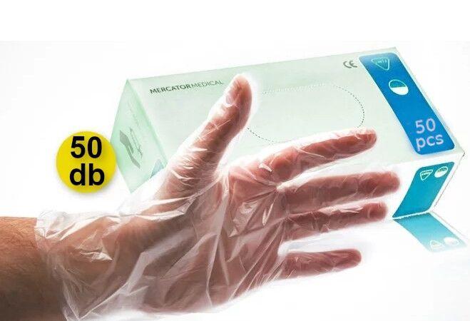 50 db-os műanyag kesztyű csomag