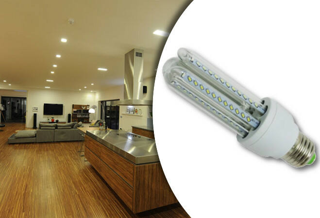 9w-os prémium LED fényforrás (U-alakú)(E27)(Meleg fehér)