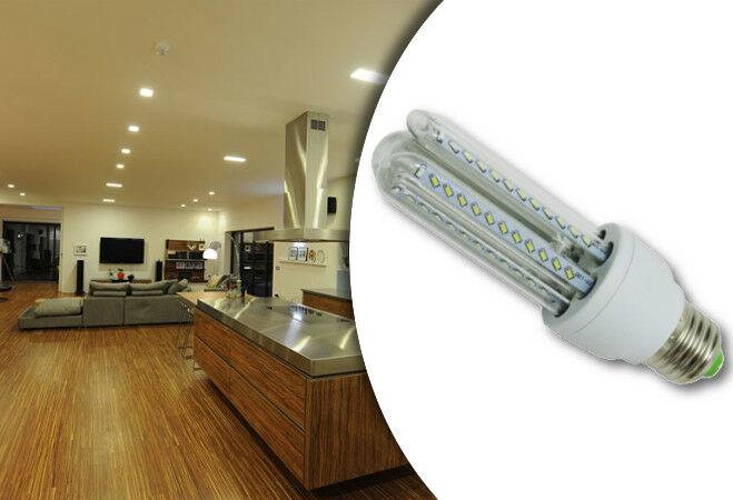 9W-os prémium LED fényforrás (10 darabos csomag, U-alakú, E27, Hideg fehér)