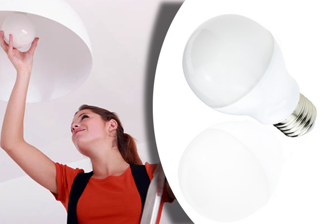 12W-os LED fényforrás (4 darabos csomag, hideg fehér, E27)