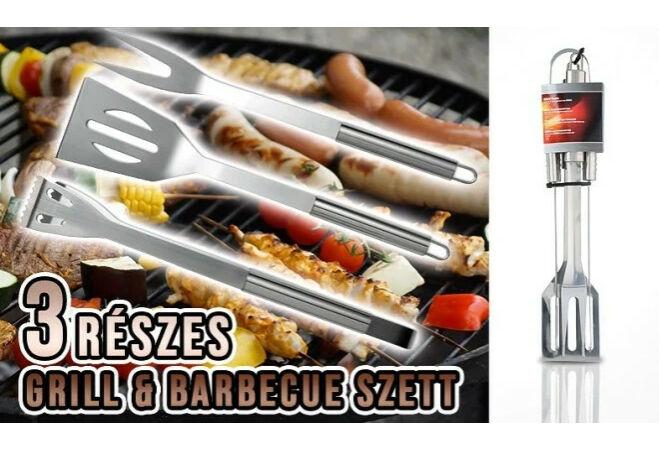 Barbeque grillező szett (3 részes)