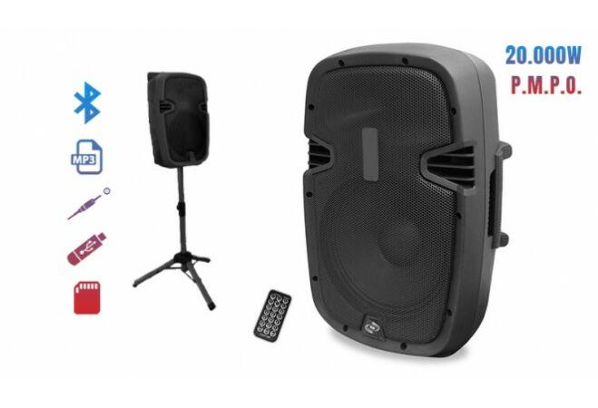 Akkumulátoros Bluetooth hangfal, állvánnyal (100W)