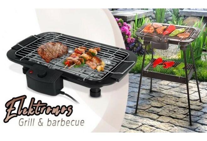 Állványos elektromos BBQ grillsütő