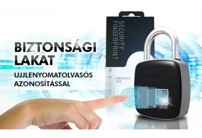 Biztonsági lakat biometrikus azonosítással (ujjnyomat)
