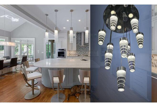 Függő LED csillár (Lépcsős)