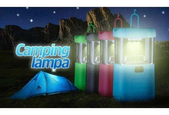 Elemes kemping lámpa (kék)