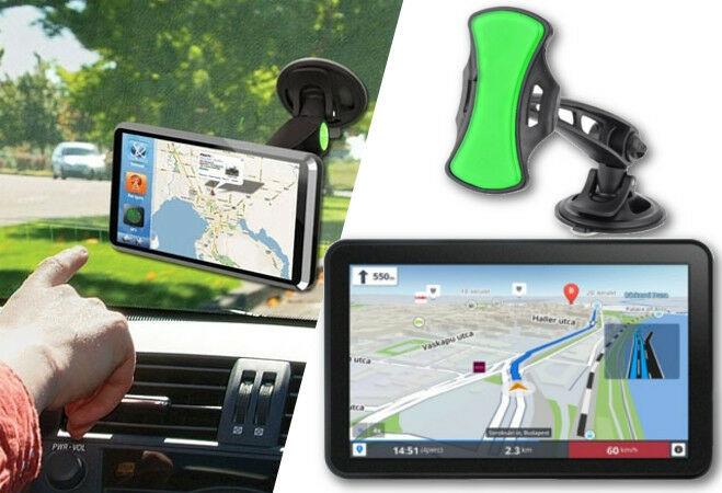 7 col-os Android GPS ajándék autós tartóval