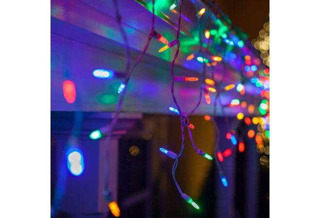 300 LED-es karácsonyi jégcsap fényfüzér (színes)