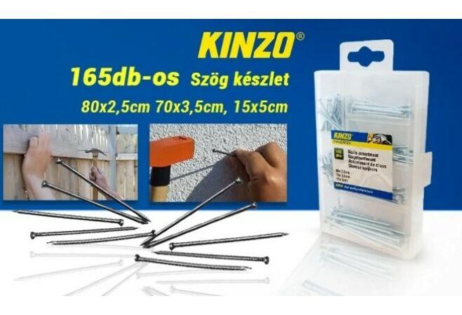 Kinzo szög készlet (165 darabos)