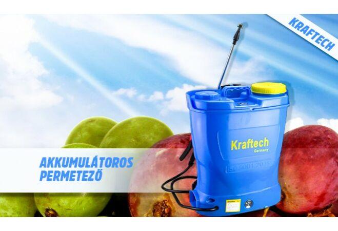 Kraftech akkus háti permetező (16L)