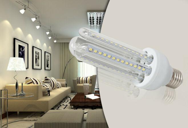 16W-os prémium LED fényforrás (10 darabos csomag, U-alakú, E27, Hideg fehér)