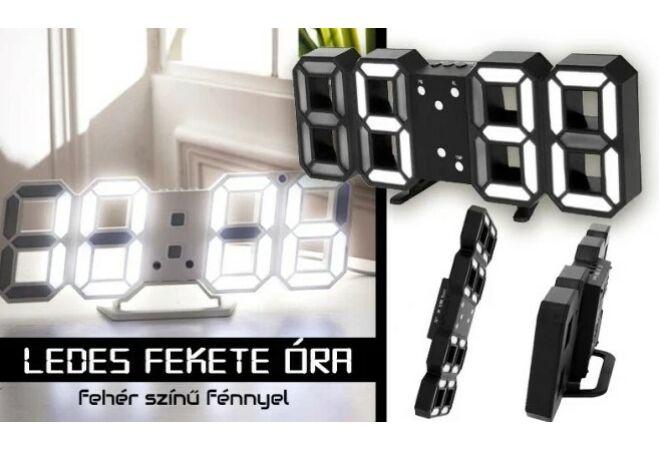 LED-es digitális óra (Fekete)