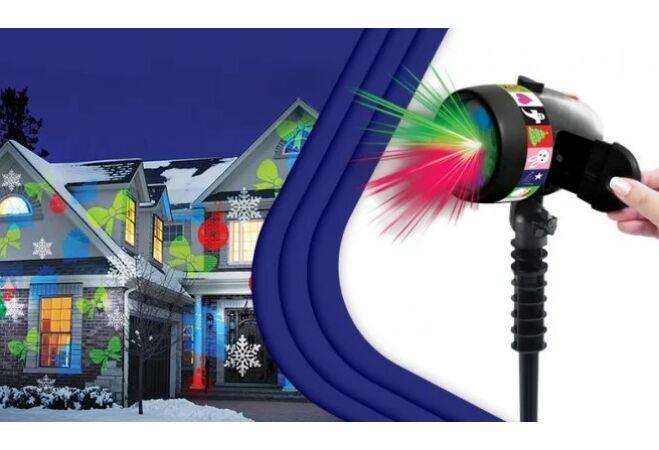 Laser Show mozgó lézerfény-rendszer motívumokkal