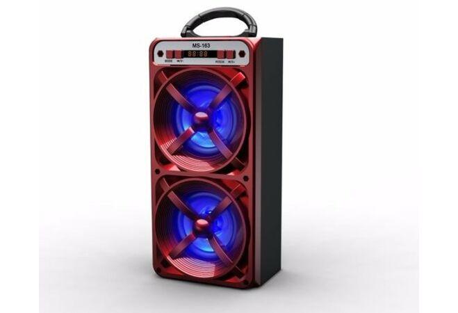 Bluetooth MS-163BT hangszóró (Piros)