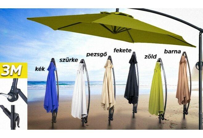 Függő napernyő (300cm, Pezsgő)
