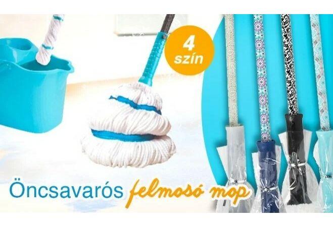 Önfacsaró mikroszálas felmosó mop
