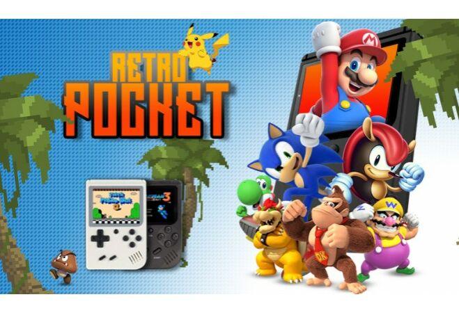 Retro Pocket játékkonzol (Fekete)