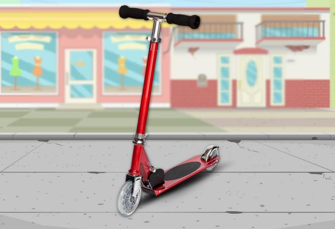 Összecsukható Junior Roller (piros)