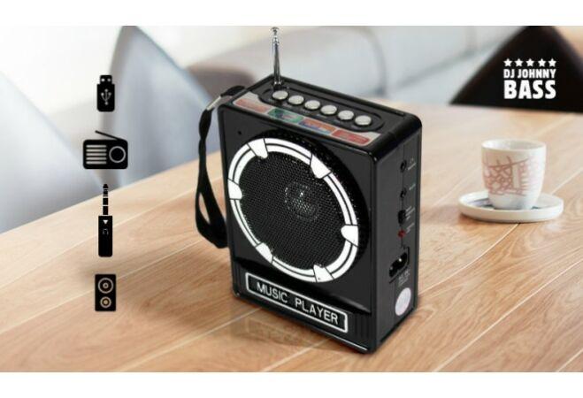 Music Player Mini hangszóró (fekete, SSV NS-017U)