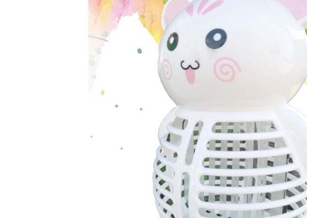 Figurás szúnyog és rovarirtó lámpa (Fehér maci)
